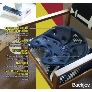 BackJoy Core SitSmart Posture Plus Traction (Available in 3 colours)