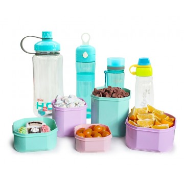 Eplas Assorted Bottles & Elianware Lunch boxes - 9-pc Value Set. NOW $39.90 ONLY (UP $109.90)