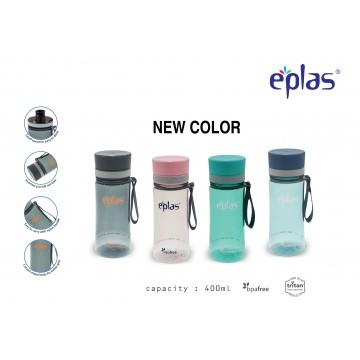 EPLAS EGHT 400ML, EASTMAN TRITAN, BPA-FREE WATER BOTTLE. LEAKAGE FREE (CLEAR - 4 NEW COLOURS)