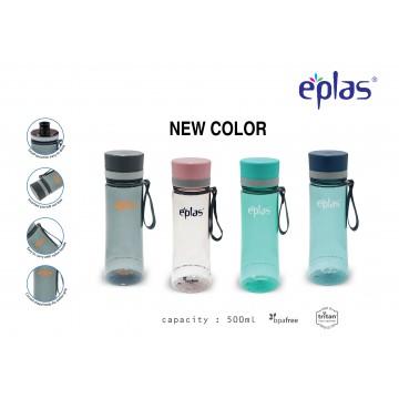 EPLAS EGHT 500ML, EASTMAN TRITAN, BPA-FREE WATER BOTTLE. LEAKAGE FREE  (NEW CLEAR-4 COLOURS)