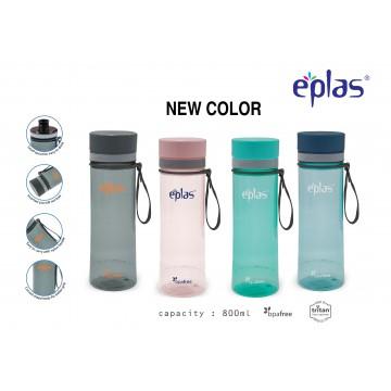 EPLAS EGHT 800ML, EASTMAN TRITAN, BPA-FREE WATER BOTTLE. LEAKAGE FREE  ( NEW CLEAR-4 COLOURS)