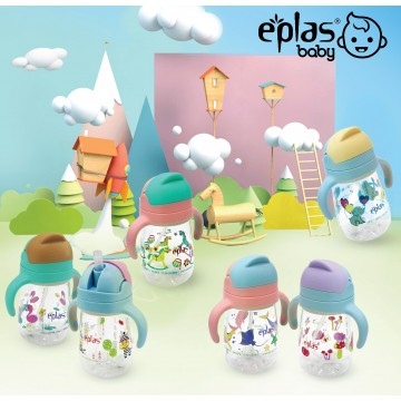 Eplas Anti-choke bottle with Weighted Ball Technology  Straw (450ml) - Available in 6 colours