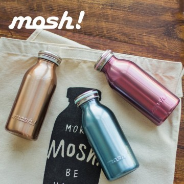 Mosh! Stainless Steel Double-walled Bottle (350ml) - Available in 6 colours