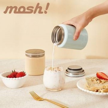 Mosh Stainless Steel Food Pot (420ml) - Available in 2 colours