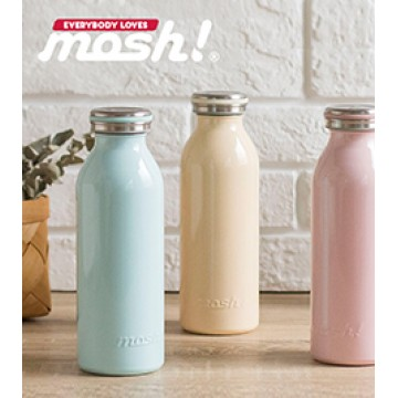 Mosh! Stainless Steel Double-walled Bottle (450ml) - Available in 11 colours