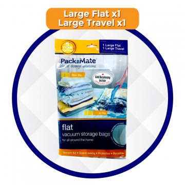 Pack Mate Mixed Set ( 1 Flat Large + 1 Travel Roll Large) - Buy 1 Get 1 FREE Travel Large (worth $19.90)