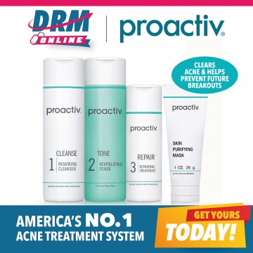 Proactiv 3-pc US Kit ( 60-day kit) - EXCLUSIVE OFFER ! Get a FREE Proactiv+ Complexion Perfecting Hydrator (30ml) worth $29.90 . While Stocks Last!