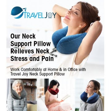 Travel Joy Rollable Memory Foam Neck Support Pillow (Available in 3 Colours)