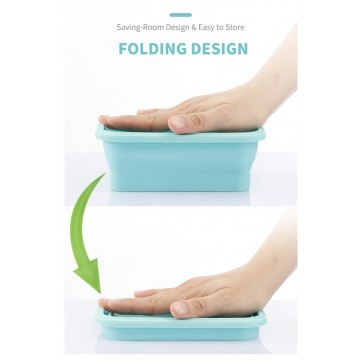 Travel Joy Eco Food Grade Silicone Foldable BPA-Free Lunch Box (800ml) Available in 3 colours