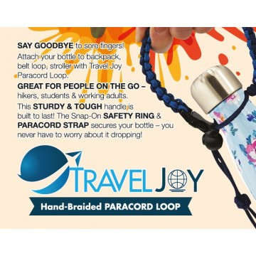 Travel Joy Bottle Paracord Loop/Handle ( Available in 9 Colours ) NOW $7.50 (UP $12.90)