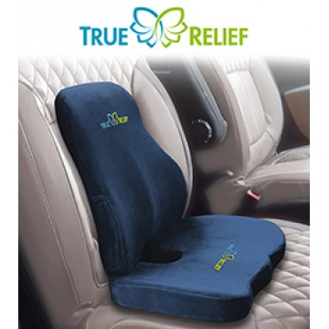 True Relief Memory Foam Ortho Back-Care Combo Set (Available in 3 Colours)