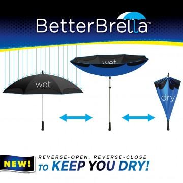 Better Brella Inverted Umbrella - Black