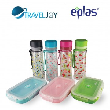 EPLAS EGH 500 (500ML) + TRAVEL JOY SILICONE FOLDABLE LUNCH BOX (800ML) VALUE COMBO PACK @ $19.90 UP $28.80. SAVE $8.90 (Available in 4 colour-sets)