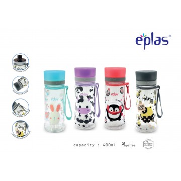Eplas BPA-Free Water Bottle (400ml) - NEW! Available in 4 colours