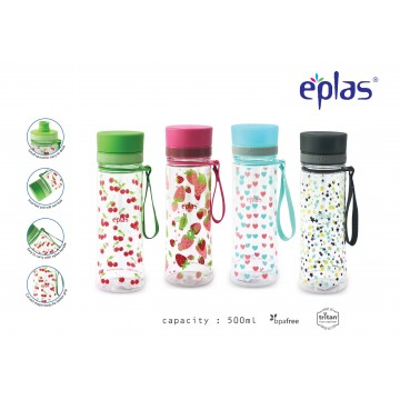 Eplas BPA-Free Water Bottle (500ml) - NEW!  Available in 4 colours