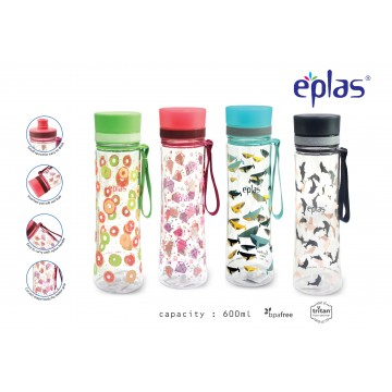 Eplas BPA-Free Water Bottle (600ml) - NEW! Available in 4 Colours