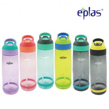 Eplas BPA-Free Sport Bottle with hidden straw (850ml) - Available in 6 colours