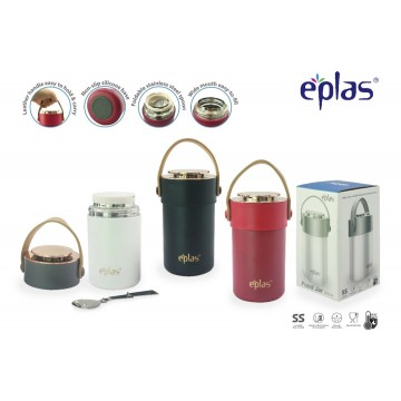 Eplas Stainless Steel Food Jar (600ml) - Available in 3 colours
