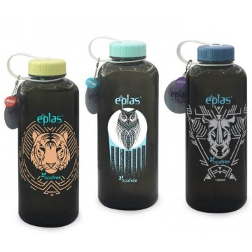 Eplas BPA Free Big Water Bottle (1600ml) - Available in 5 prints