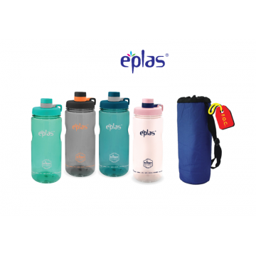 Eplas BPA-Free Leak Resistant Sport Bottle with measurement (1500ml) - Available in 4 colours  (VALUE COMBO PACK + FREE Bottle Pouch with Strap worth $12. 90)