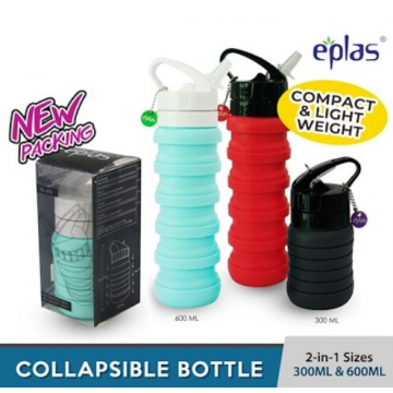 Eplas Silicone Collapsible Bottle (600ml) - Available in 3 colours