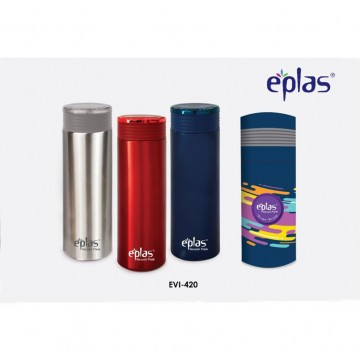 Eplas Double walled Stainless Steel Bottle (420ml) - Available in 3 colours