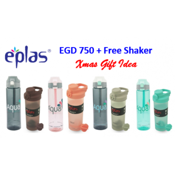 EPLAS EGD 750 SPORT BOTTLE + FREE EPLAS SHAKER (WORTH $16.90) - Available in 4 Combo Value Sets