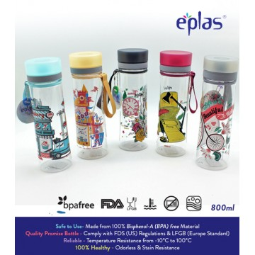 Eplas BPA-Free Water Bottle (800ml) - Available in 4 colours