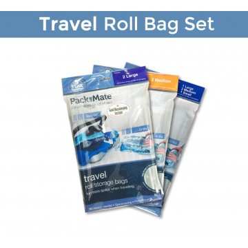 Pack Mate Vacuum Travel Roll Storage Bag - Medium, Large and Combo set