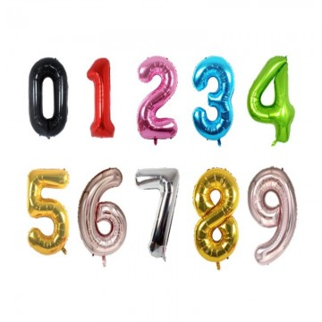 Party Fete Party Balloon with Numbering (Available in 6 ages)