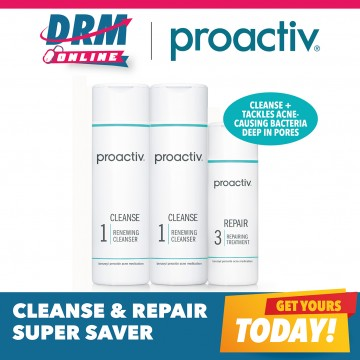 Proactiv Cleanse & Repair Bonus Saver Kit (2 Cleanser + 1 Repair Lotion)
