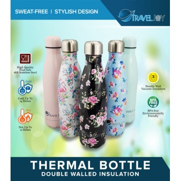 Travel Joy Stainless Steel Bottle (500ML)  - Available in 12 colours